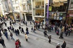 Istiklal Caddesi, beyoglu-Istanboel Royalty-vrije Stock Afbeeldingen