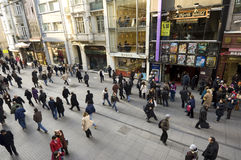 Istiklal Caddesi, Beyoglu-Istanbul Images libres de droits