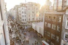 Istiklal Caddesi (Istiklal Avenue), Istanbul, Turkey Stock Image