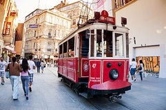 Istiklal Road, Istanbul Turkey Royalty Free Stock Photography