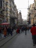Istiklal Street in Beyoglu Istanbul. Turkey Stock Photo