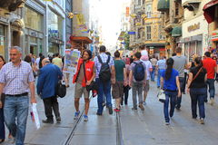 Istiklal Street Royalty Free Stock Photography