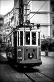Istiklal street in Istanbul and retro tram. Stock Photos