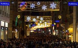 Istiklal Street, Istanbul, Turkey Stock Images