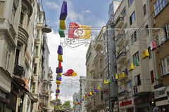 Istiklal street during 5th Istanbul Shopping Fest . Stock Photo