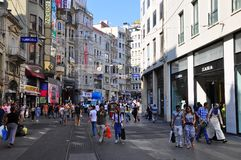 Istiklal street view Stock Images