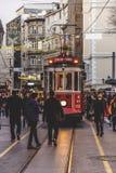 Istiklalweg, Istanboel Stock Foto's