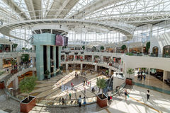 Istinye Park shopping mall in Istanbul, Turkey. Istanbul, Turkey - July 16, 2015: istinye Park shopping mall in Istanbul, Turkey Royalty Free Stock Photo