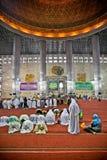 Istiqlal Mesjid清真寺。印度尼西亚 图库摄影