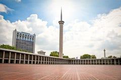 Istiqlal Mesjid清真寺在雅加达。印度尼西亚。 免版税库存图片