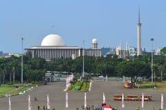 Istiqlal moské, jakarta, indonesia Royaltyfri Bild