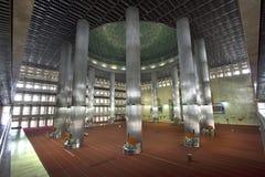Istiqlal moské, jakarta, indonesia Arkivfoto