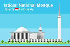 Istiqlal Mosque of Jakarta Royalty Free Stock Image