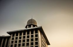 Istiqlal mosque tall building for moslem to pray their god Allah stock image