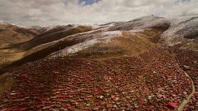 Istituto di buddismo nel Tibet Immagine Stock