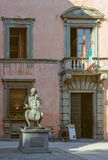 Istituto Musicale Boccherini - Lucca. Statue of Luigi Boccherini in front of the Conservatory or Music Institute named after him - Lucca, Tuscany, Italy Stock Photos