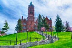 Istituto universitario della rappresentazione e delle arti dello spettacolo che costruiscono a Siracusa Univ fotografia stock