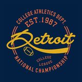 Istituto universitario Detroit atletica Immagine Stock