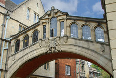 Istituto universitario di Hertford, ponticello dei sospiri Fotografie Stock