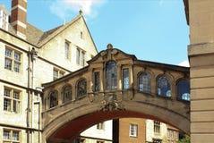 Istituto universitario di Hertford, ponticello dei sospiri, Oxford Fotografia Stock Libera da Diritti