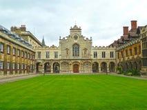 Istituto universitario di Peterhouse all'università di Cambridge Immagine Stock