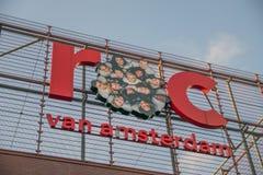 Istituto universitario Westpoort ROC At Amsterdam The Netherlands 2018 del MBO del tabellone per le affissioni immagine stock