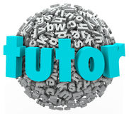 Istitutore Letter Ball Sphere che impara le lezioni Writi d'istruzione privato Immagine Stock Libera da Diritti