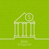 Istituzione finanziaria con una moneta illustrazione vettoriale