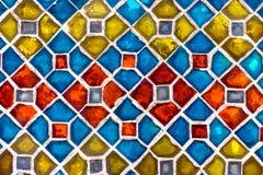 Istna kolorowa płytka wzoru tapeta Obrazy Stock