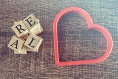 Istna miłości wiadomość Zdjęcia Stock
