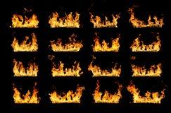 Istne pożarnicze linie zdjęcia stock