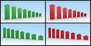 istni nieruchomość wykresy Fotografia Stock