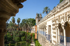 Istny Alcazar Seville Obraz Stock