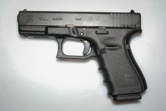 Istny Austriacki pistoletowy glock 17 obraz stock