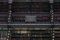 Istny Gabinete português De Leitura Biblioteka Rio De Janeiro Zdjęcia Royalty Free