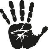 Istny Handprint wektor royalty ilustracja