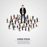 Istny lider - Biznesowy mężczyzna w tłumu Fotografia Stock