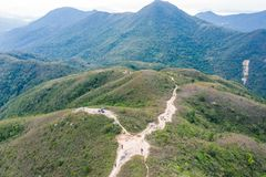 Isto é sobre montanhas em Hong Kong fotografia de stock