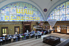 Istoc mosque ritual of worship centered in prayer, Istanbul, Tur Royalty Free Stock Photos