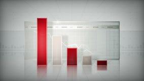 Istogramma che tende giù il rosso illustrazione di stock