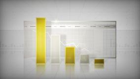 Istogramma che tende giù l'oro illustrazione di stock