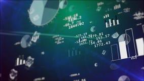 Istogrammi di borsa valori con i grafici d'attaccatura Immagini Stock