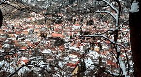 Istoric part of BRASOV city Romania stock photo