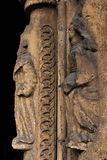 Istot ludzkich rzeźby w hołobelnej kolumnie Obraz Stock