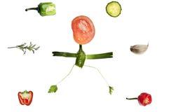 istota ludzka robić kształta warzywa Zdjęcia Royalty Free