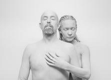 Istota ludzka w glinie, golem, żywy statua Obrazy Royalty Free