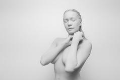 Istota ludzka w glinie, golem, żywy statua Fotografia Royalty Free