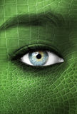 Istota ludzka z lizzard skóry teksturą - mutaci pojęcie Obrazy Royalty Free