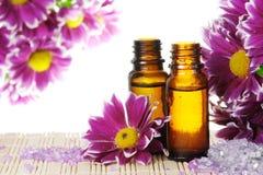 istotna kwiatów oleju sól fotografia royalty free