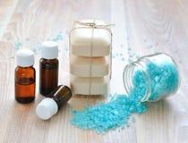 istotnego oleju soli morza mydło Zdjęcie Stock